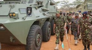 COMMANDER IN CHIEF UHURU IN UNIFORM