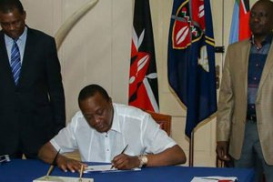 PRESIDENT SIGNS SECURITY BILL