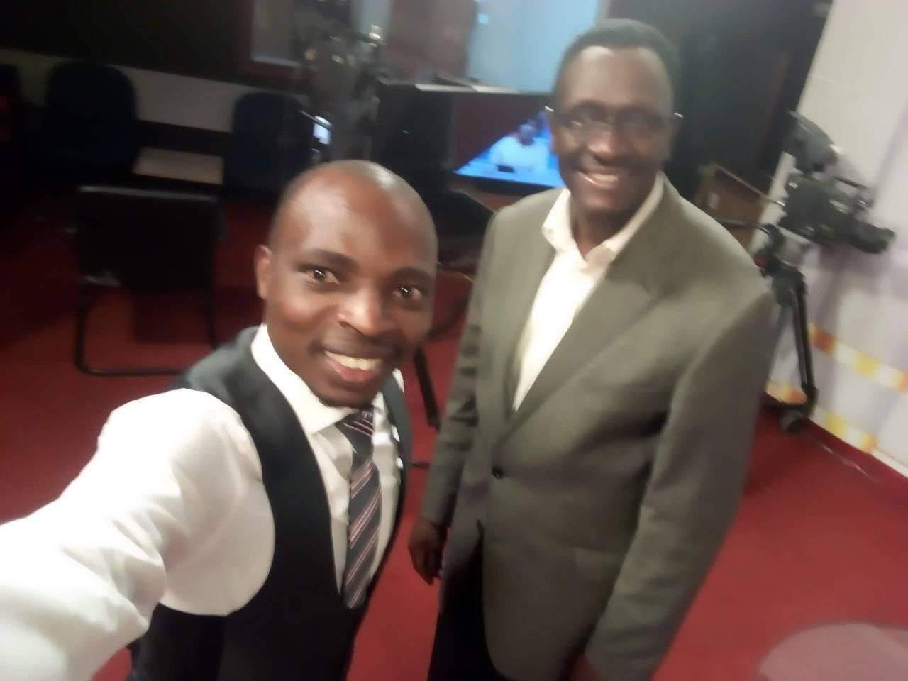 With lofti Matambo of KTN